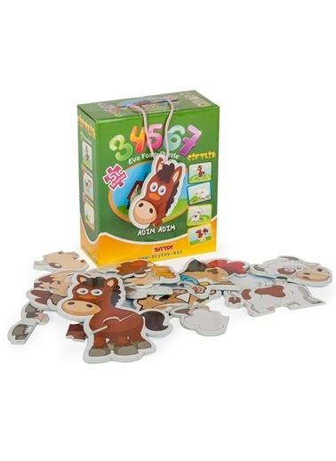 Bunjoy Diy-Toy Yayınları Çiftlik Puzzle 8018 Renkli
